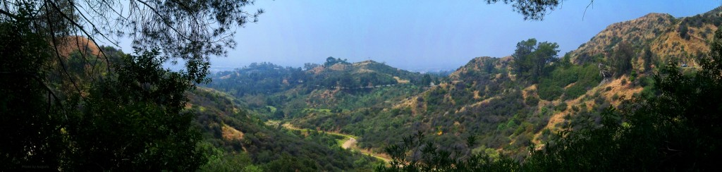 rugged country of Griffith Park, one of the largest city parks in the western USA - Los Angeles, California