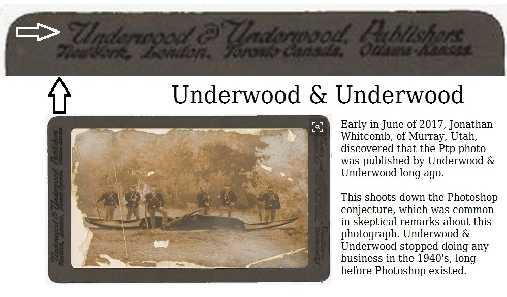 "modern pterosaur photo with a border that includes ""Underwood & Underwood"""